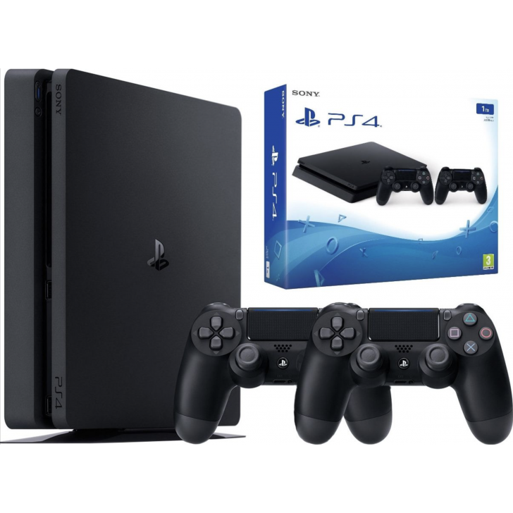 PLAYSTATION 4 SLIM 1TB BLACK + DUALSHOCK V4
